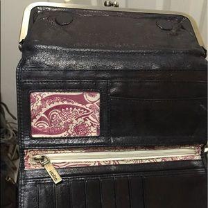 Black Hobo wallet/clutch.